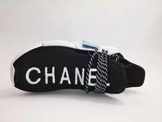ec794a2f2 Adidas Black CHANEL x Pharrell NMD Human Race PK Sneakers