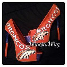 Womens Denver Broncos High Heels
