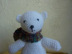PDF version Polar bears are my favourite animal. Here's one I made for fun. I used: White double knitting yarn – about 50g A small amou...