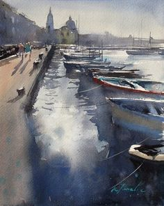 Procida I by Keiko Tanabe Watercolor ~ 9 1/2 x 7 1/2 inches (24 x 19 cm)