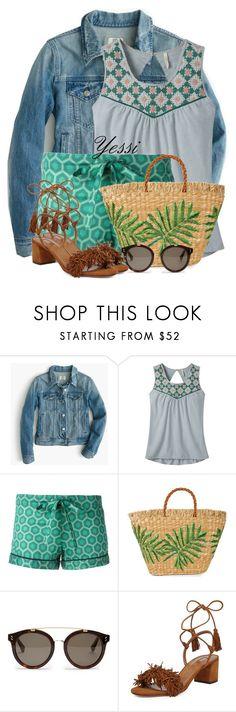 """~ 💕 Denim Jacket & Printed Shorts 💕 ~"" by pretty-fashion-designs ❤ liked on Polyvore featuring J.Crew, Mountain Khakis, OTIS BATTERBEE, Aranáz, STELLA McCARTNEY and Aquazzura"