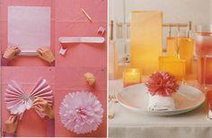 flower ball napkin rings