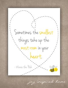 Instant download/Printable art/Winnie the Pooh/the smallest things/nursery decor/baby on Etsy, £3.12