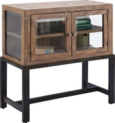 Sideboard aus Holz und Metall - rustikale Leichtigkeit mit Charme Magazine Rack, Cabinet, Storage, Furniture, Home Decor, Glamour, Wood And Metal, Dresser, Rustic