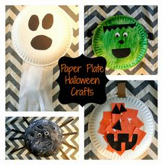 The Journey of Parenthood...: Halloween Plate Crafts