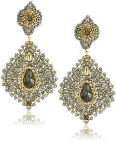 Miguel Ases Labradorite Lotus Drop Earrings on shopstyle.com