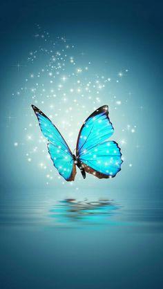 Aesthetic Background iPhone Wallpaper Butterfly in 2020 Blue Butterfly Wallpaper, Cute Galaxy Wallpaper, Butterfly Background, Glitter Wallpaper, Love Wallpaper, Colorful Wallpaper, Butterfly Painting, Landscape Wallpaper, Scenery Wallpaper