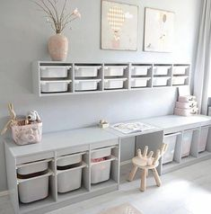 Playroom Shelves, Ikea Playroom, Small Playroom, Ikea Kids Room, Toddler Playroom, Playroom Design, Toddler Rooms, Kids Room Design, Playroom Ideas