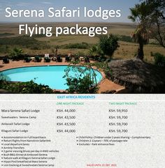 Serena has a history of providing unique safari holiday packages in a choice of tented camps and safari lodges in Kenya's most exciting destinations.#MaasaiMaraGameReserve #Amboseli #TsavoNationalpark