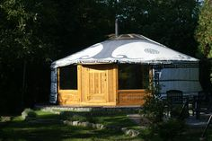 outside of our yurt