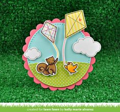 the Lawn Fawn blog: Lawn Fawn Intro: Yay, Kites! and Big Scripty Words