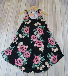 The Floral In The South adorable flowy, coral and black floral sleeveless tunic tank dress is a personal favorite. Can be worn as a dress or with leggings. Boutique Clothing, Fashion Boutique, Sleeveless Tunic, Tank Dress, Floral Tops, Summer Dresses, Shopping, Clothes, Women