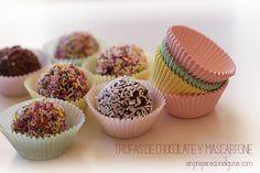 Trufas de Chocolate, una receta para hacer con niños