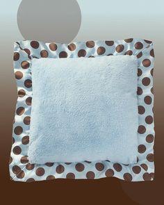 "Bearington Baby Posh Dots Pillow (Blue) 16"" W x 16"" L . HS $26.99 SOLD OUT  www.lambertpaint.com"