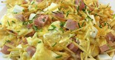 Revuelto de patatas, jamón y queso