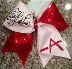 Pretty Little Liars -A White Mystique and Red Sequins Cheer Bow