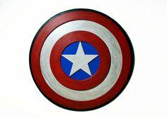 Decoracion de pared del logo de Capitan America por PepitosAtelier