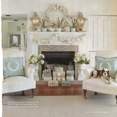 Love the cream and pale blues