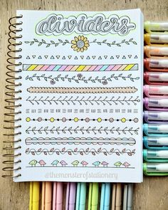 Best Bullet Journal Divider Ideas For 2019 Check out the collection of super cute and easy bullet journal divider ideas! Bullet Journal Tracker, Bullet Journal Dividers, Bullet Journal Titles, Bullet Journal Banner, Journal Fonts, Bullet Journal Notebook, Bullet Journal Aesthetic, Bullet Journal School, Bullet Journal Inspiration