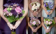 bridesmaids flowers Roses mug wort Fern curl Trachelium Freesia