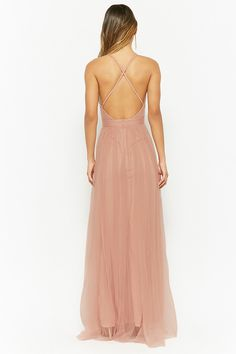 Plunging Mesh Maxi Dress | Forever21