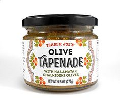 Trader Joe's Olive Tapenade with Kalamata & Chalikidiki Olives Spread Oz.: This spread is fantastic and dip or spread. Made from Kalamata and Chalkidiki olives from Greece. Olive Spread, Thing 1, Tapenade, Grocery Lists, Trader Joes, Baking Ingredients, Coffee Cans, Cookie Dough, Gourmet Recipes