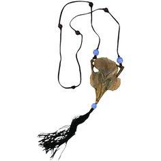 Pre-owned Large Art Nouveau Horn Iris Pendant, Elizabeth Bonte ($4,800) ❤ liked on Polyvore featuring jewelry, pendants, necklaces, drop necklaces, vintage jewellery, bead pendant, vintage art nouveau jewelry, iris jewelry e art nouveau pendant