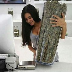 If I ever saw that much weed... I would legit die  #marijuana #cannabis
