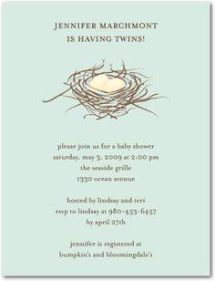 tweet tweet...this baby shower invitation is sweet sweet