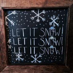 Winter chalkboard art 2013