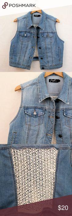 3/$20 • Earl Jean Denim Vest Cool denim vest by Earl Jean. Size large. Earl Jeans Jackets & Coats Vests