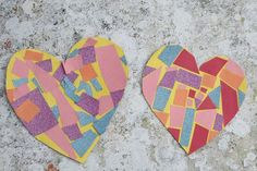 easy mosaic heart craft