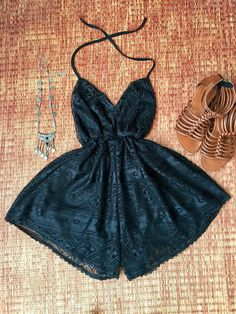 BACKLESS LACE ROMPER Sexy Playsuit Dress Bohemian Boho Style