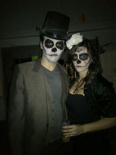creepy sugar skull makeup