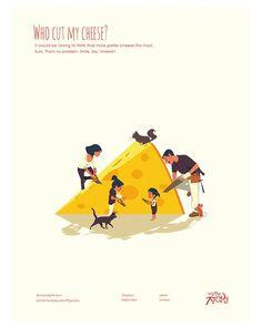 Gambar mungkin berisi: satu orang atau lebih dan teks Mouse Illustration, Digital Illustration, Cheese Design, Visual Communication Design, Graphic Design Tutorials, Painting For Kids, Vector Art, Poster Prints, Posters