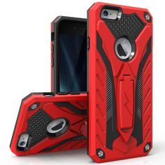 ZIZO STATIC Kickstand iPhone 6s/6 Plus (5.5 in) Case - Red/Black