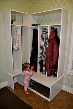 Inside Corner Locker   Storage Solutions   Pinterest ...