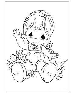 Precious Moments Kleurplaten voor kinderen. Kleurplaat en afdrukken tekenen nº…