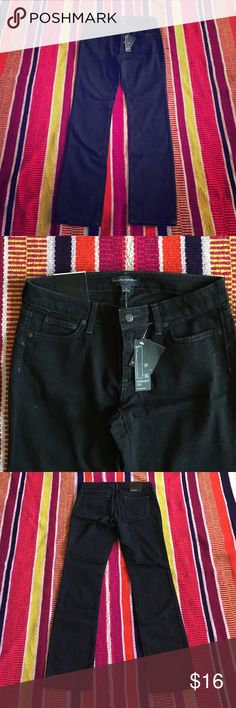 Banana Republic jeans NWT Banana Republic black straight leg jeans. No blemishes, just purchased before I lost weight so never worn. NWT Banana Republic Jeans Straight Leg