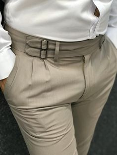 Product Name : Bernard Corset Cream Belted Slim Pants Color: Cream Style: Slim Fit Size: [ ]Material: Polyester, Cotton, Lycra Wash Type: Dry Cleaning Only Collection : 2019 Nigerian Men Fashion, Indian Men Fashion, Mens Fashion Wear, Fashion Pants, Mens Kurta Designs, Slim Fit Dress Pants, Men Dress, Men's Dress Pants, Formal Men Outfit