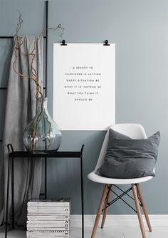 Happiness Poster in der Gruppe Poster / Typografie Poster bei Desenio AB (8857)