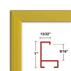 19 12 x 27 12 Satin Gold Poster Frame  Profile 93 Custom Size Picture Frame -- Home decor details can be found by clicking on the image.