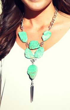 Chunky turquoise.