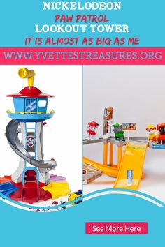 Paw Patrol toys are fun, affordable and great to play with. Paw Patrol has just come out with their new Lookout Tower, it's as big as a toddler. Take a look at these great Paw Patrol gift ideas and let me know what you think. Top Christmas Toys, Creative Christmas Gifts, Handmade Christmas Gifts, Paw Patrol Gifts, Paw Patrol Toys, Unique Gifts For Kids, Gifts For Teens, Learning Toys For Toddlers, Toys For Boys