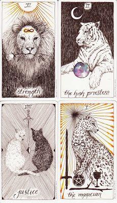 Rowan Tarot: Cats in the Wild Unknown Tarot