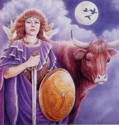 Of the great female figures of Ireland, Maeve was probably the most splendid. Originally a Goddess of the land's sovereignty and of its mystic center at Tara, She was demoted in myth, as the centuries went on and Irish culture changed under Christian influence, to a mere mortal queen.