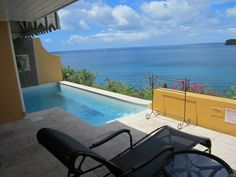 Sunset Bluff Ocean Front 1 Bedroom Villa Suite with Private Pool - What a view!! — in Castries, St. Lucia.