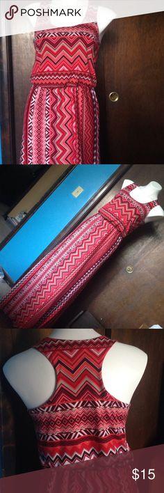 Long chevron dress Really comfortable. Worn it like twice. Derek Heart Dresses Maxi