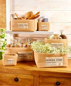 6-Pc. General Store Basket Set gives you so many ways to display and organize in just about any room of your home. Each durable, heavy-duty structured basket fe