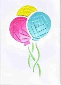 Advanced Iris Folding Kit - Balloons